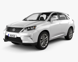 3D model of Lexus RX F Sport hybrid (AL10) with HQ interior 2012