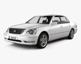 3D model of Lexus LS (XF30) 2003