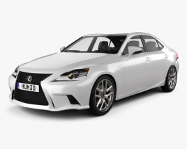 3D model of Lexus IS F Sport (XE30) 2013