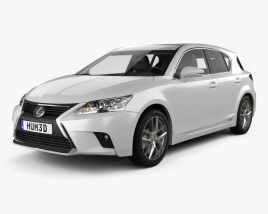 3D model of Lexus CT 2014