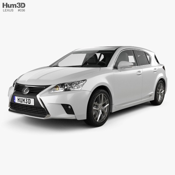 3D model of Lexus CT 2014