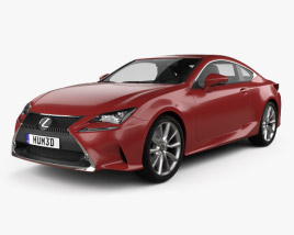 3D model of Lexus RC 2014