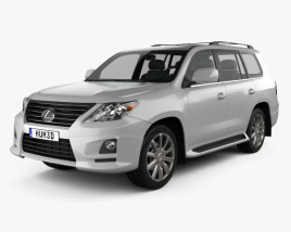 3D model of Lexus LX Sport 2010