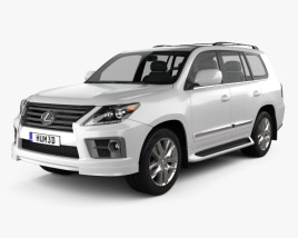3D model of Lexus LX Sport 2013