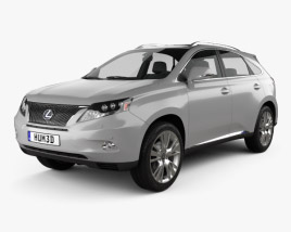 3D model of Lexus RX hybrid 2009