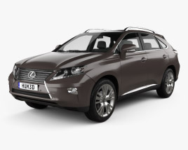 3D model of Lexus RX 2012