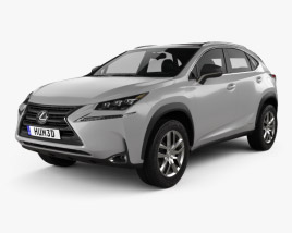 3D model of Lexus NX Hybrid 2014