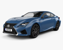 3D model of Lexus RC F 2014