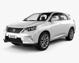 3D model of Lexus RX F sport hybrid 2012
