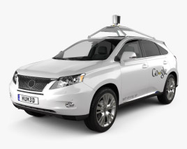 3D model of Lexus RX Google Self-driving 2013