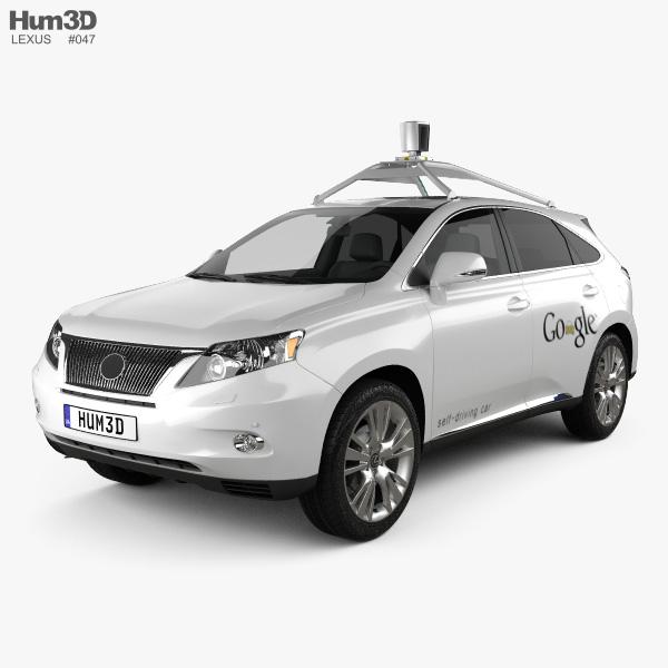 Lexus RX Google Self-driving 2013 3D model