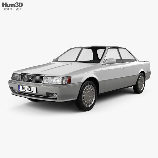 3D model of Lexus ES 1989