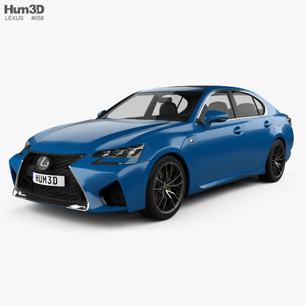 Lexus GS F 2015 3D model