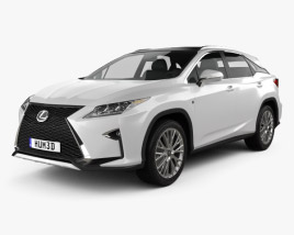 3D model of Lexus RX F Sport 2016