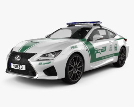 3D model of Lexus RC F Police Dubai 2015