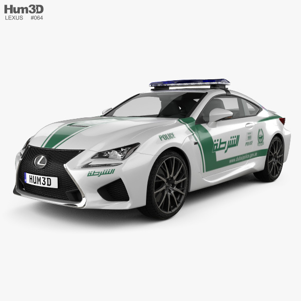 Lexus RC F Police Dubai 2015 3D model