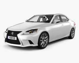3D model of Lexus IS (XE30) F Sport with HQ interior 2013