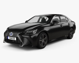 3D model of Lexus GS Hybrid 2015