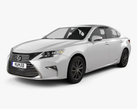 3D model of Lexus ES Hybrid 2015