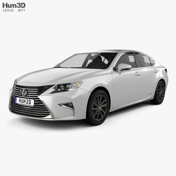 Lexus ES Hybrid 2015 3D model
