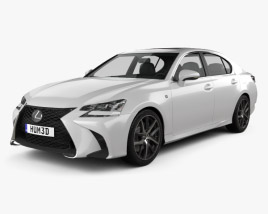 3D model of Lexus GS F Sport 2015
