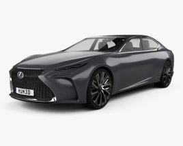 3D model of Lexus LF-FC 2015