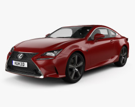 3D model of Lexus RC 200t 2016