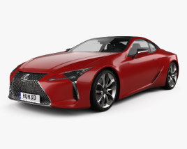 3D model of Lexus LC 500 2017