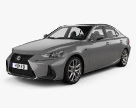 3D model of Lexus IS (XE30) 200t F Sport 2017