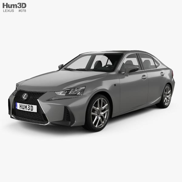 Lexus IS (XE30) 200t F Sport 2017 3D model