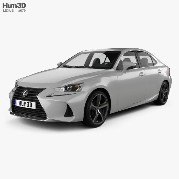Lexus IS (XE30) 350 2016 3D model