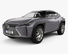 3D model of Lexus UX concept 2016