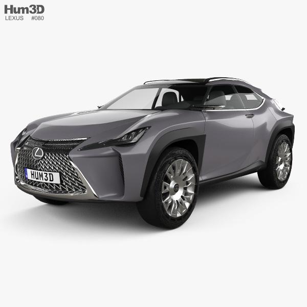 Lexus UX concept 2016 3D model