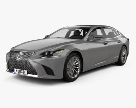 3D model of Lexus LS 2017