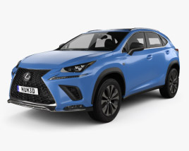 3D model of Lexus NX F sport 2017