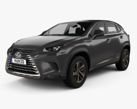3D model of Lexus NX hybrid 2017
