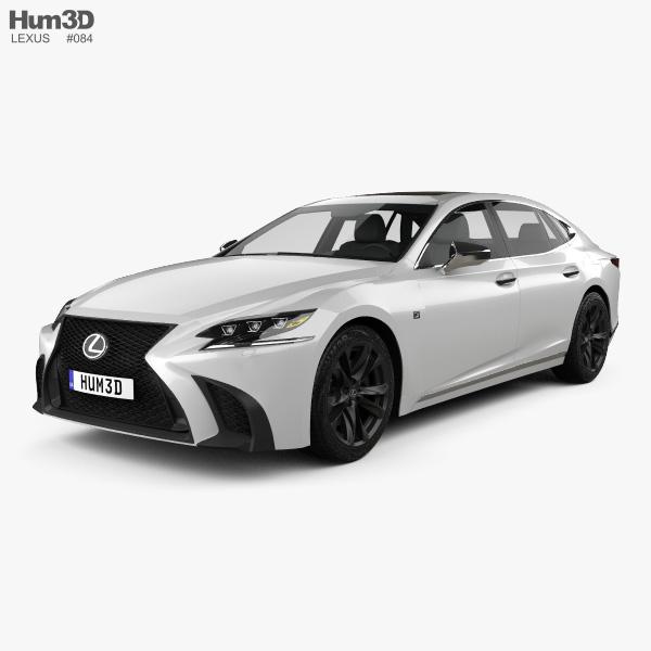 Lexus LS (XF50) F Sport 2018 3D model