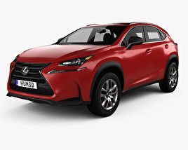 3D model of Lexus NX 200t 2014