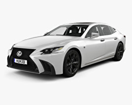 3D model of Lexus LS (XF50) F Sport with HQ interior 2018