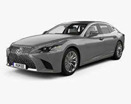 3D model of Lexus LS (XF50) with HQ interior 2017