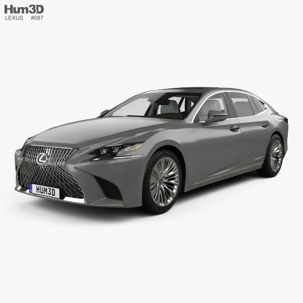 Lexus LS (XF50) with HQ interior 2017 3D model