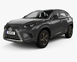 3D model of Lexus NX hybrid with HQ interior 2017
