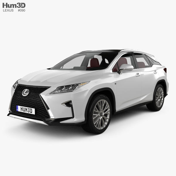 3D model of Lexus RX F sport with HQ interior 2016