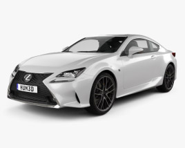 3D model of Lexus RC F Sport 2018