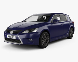 3D model of Lexus CT Hybrid Prestige 2018