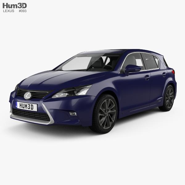 3D model of Lexus CT Hybrid Prestige 2018