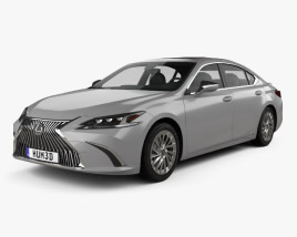 3D model of Lexus ES 300h 2019