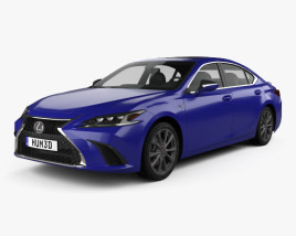 3D model of Lexus ES 350h F-sport 2019