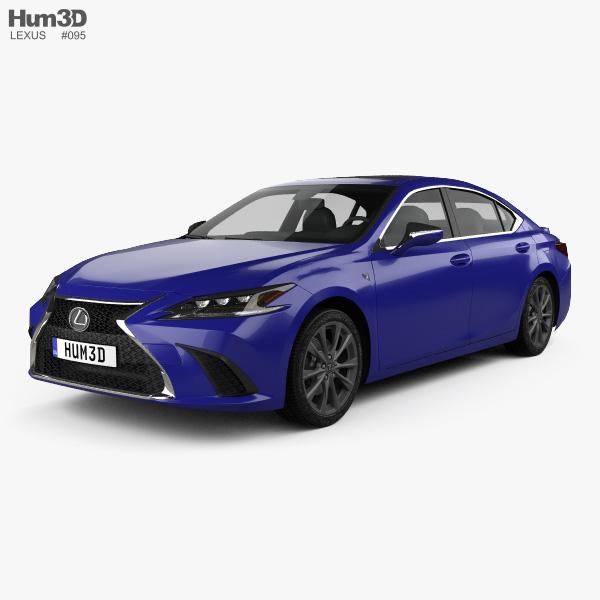 Lexus ES 350h F-sport 2019 3D model
