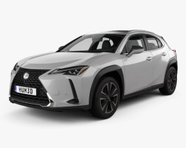 3D model of Lexus UX 2018